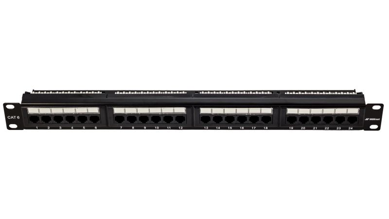 "19"" Patch panel UTP, Cat6, PCB, MODnet, 1U, 24 portů"