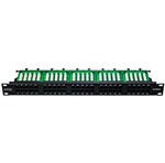 "19"" Telefonní patch panel, ISDN, MODnet, 1U, 50 portů"