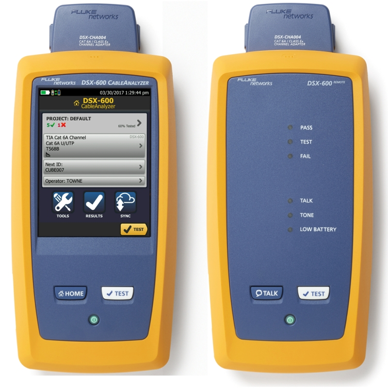 DSX-600 CableAnalyzer - Versiv Main & Remote unit, Permanent Link adapters Cat 6A