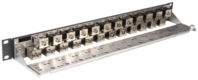 Patch Panel PowerCat 1U, 24xRJ45, DataGate+, STP kat. 6, 568B