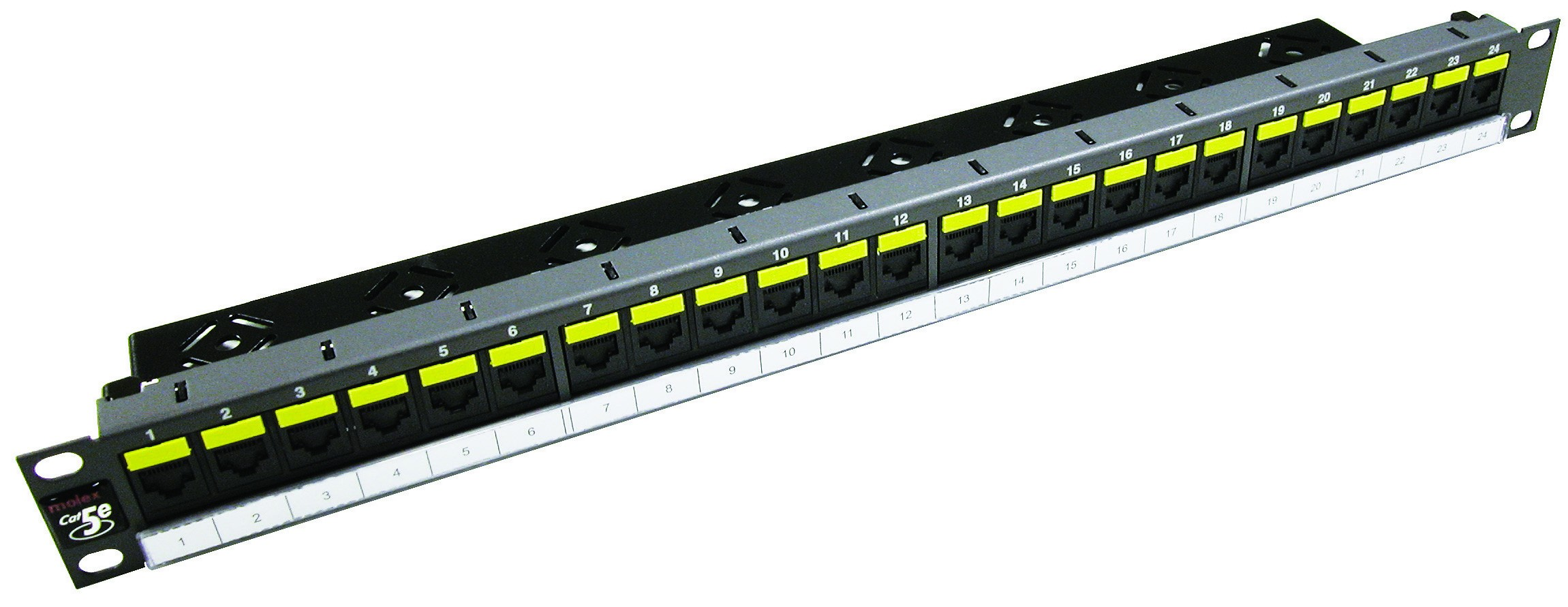 Patch panel PowerCat 1U, 24xRJ45, DataGate+, UTP kat.5E, 568A/B