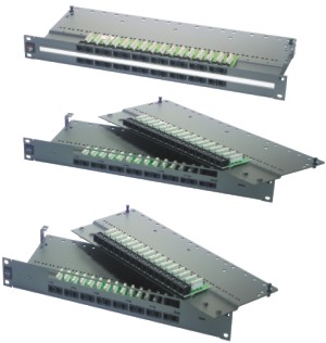 Patch panel PowerCat 1U,32xRJ45, UTP kat.5E, 568B