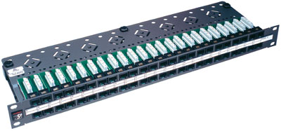 Patch panel PowerCat 1U,48xRJ45, UTP kat.5E, 568B