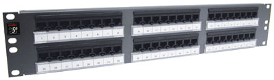 Patch panel PowerCat 2U, 48xRJ45, UTP kat.5E, 568B
